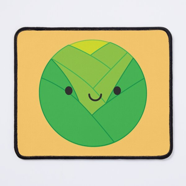 Kawaii Brussels Sprout / Cabbage Mouse Pad