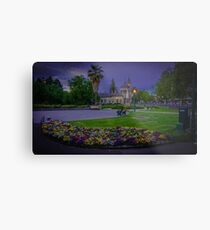 Springtime at the Soldiers Memorial and Old Town Hall Metal Print