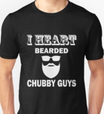 Beard - I Heart Bearded Chubby Guys T-Shirt