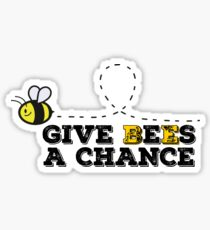 Give Bees A Chance Peace  Sticker
