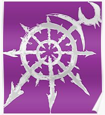 Mark of Chaos - Slaanesh (white) Poster
