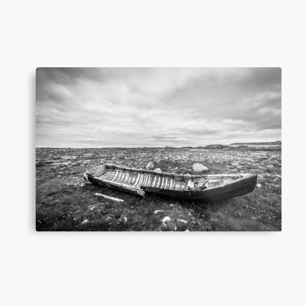 Storm Surge - Black and White Metal Print