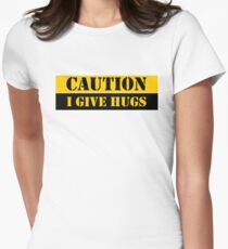 Caution I Give Hugs Funny Quotes Cool Shirts T-Shirt