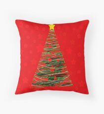 Xmas tree 3 Throw Pillow