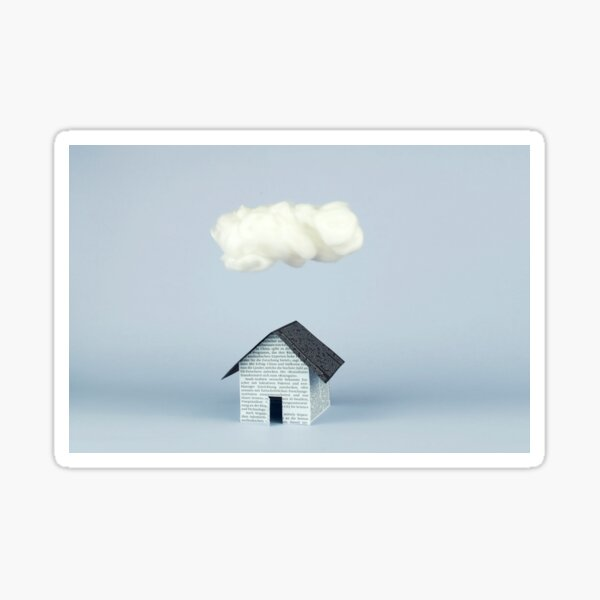 A cloud over the house Pegatina