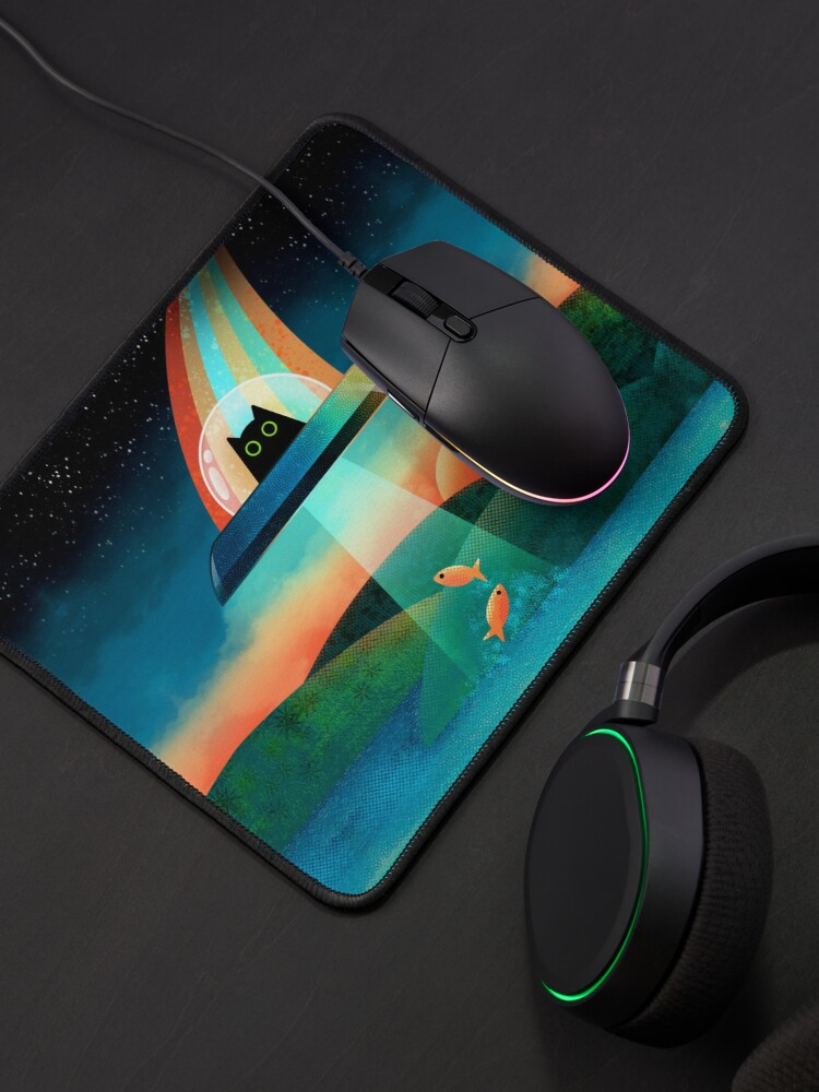 Alternate view of The Purrfect Alien  Mouse Pad