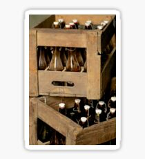 Vintage bottles, vintage crates Sticker