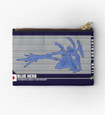 Resident Evil Blue Herb Zipper Pouch