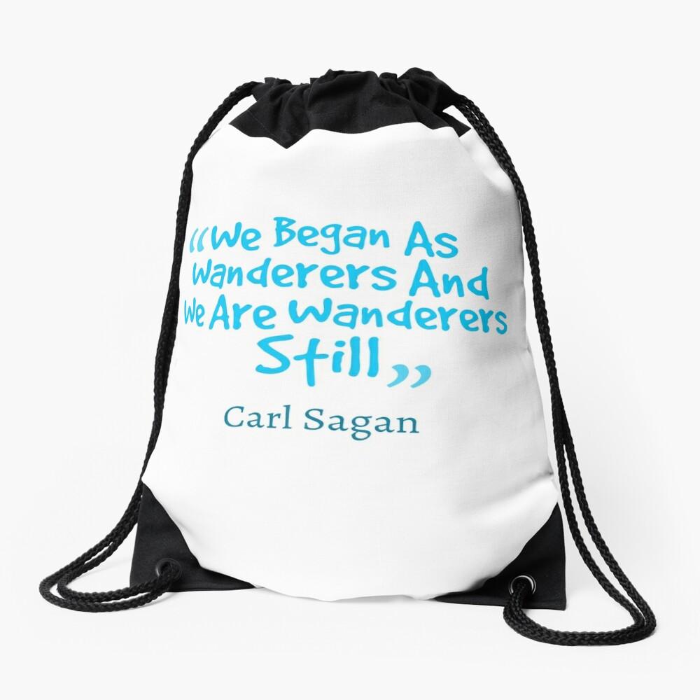 Carl Sagan Quote #1 Drawstring Bag