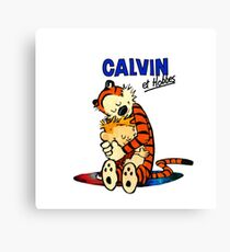 Calvin and Hobbes Hugs  Canvas Print