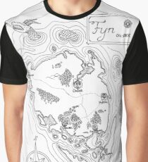 Map of Funen 1 Graphic T-Shirt