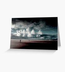 Coast...Wind walkers. Greeting Card