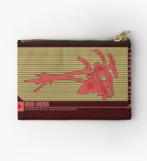 Resident Evil Red Herb Zipper Pouch