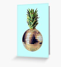 Ananas Party (pineapple) blue version Greeting Card