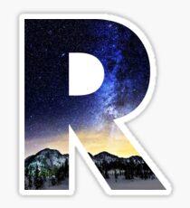 R Star Night Sticker