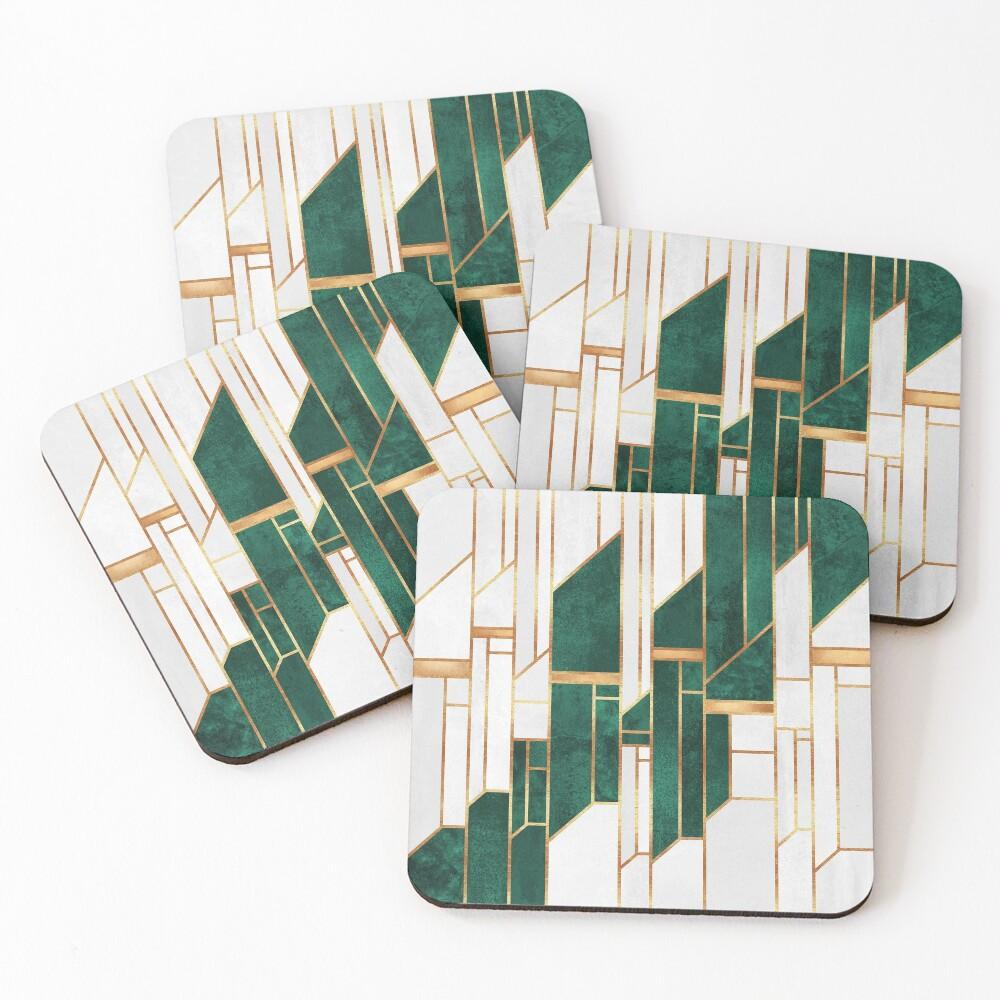 Emerald Sky Coasters (Set of 4)