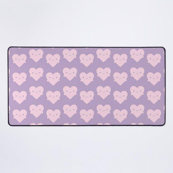 Kawaii Heart Hugs Desk Mat