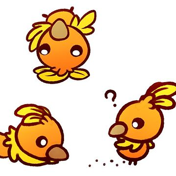 Tumbling Torchic Stickers - Set 2 by RaspberryMoon
