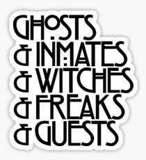 Ghosts & (Black) Sticker