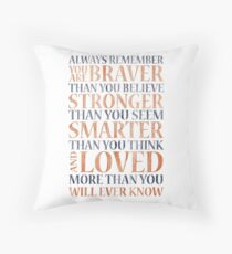Always Remember (Winnie the Pooh) Throw Pillow