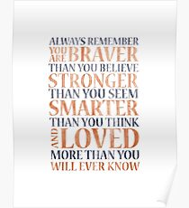 Always Remember (Winnie the Pooh) Poster