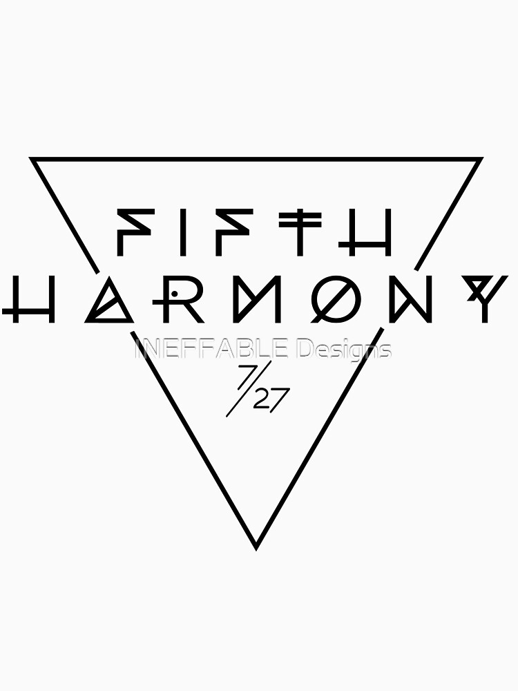TShirtGifter presents: Fifth Harmony Official 7/27 Merch #3 ( Black Text ) | Classic T-Shirt
