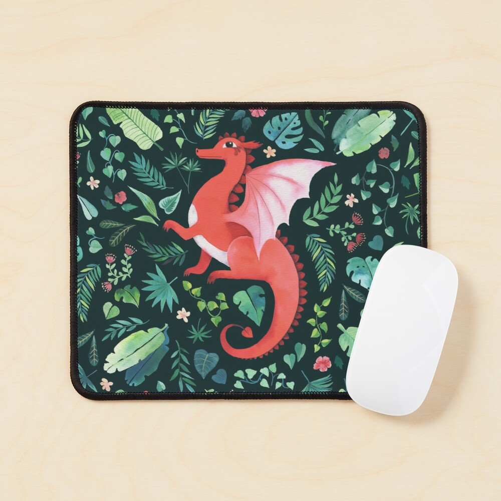 Tropical Dragon Mouse Pad