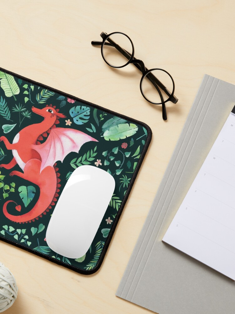 Alternate view of Tropical Dragon Mouse Pad