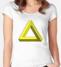 Impossible triangle Women's Fitted Scoop T-Shirt