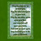 Green Irish Blessing by Packrat