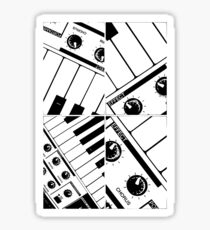 Abstract Synth Keyboard  Sticker