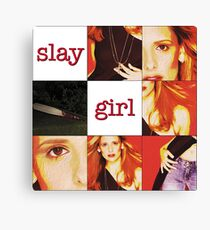 """Slay Girl"" - Buffy the Vampire Slayer Canvas Print"