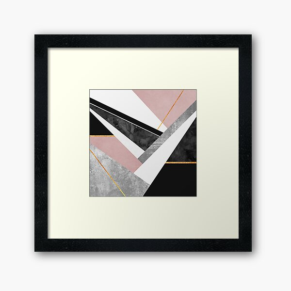 Lines & Layers Framed Art Print