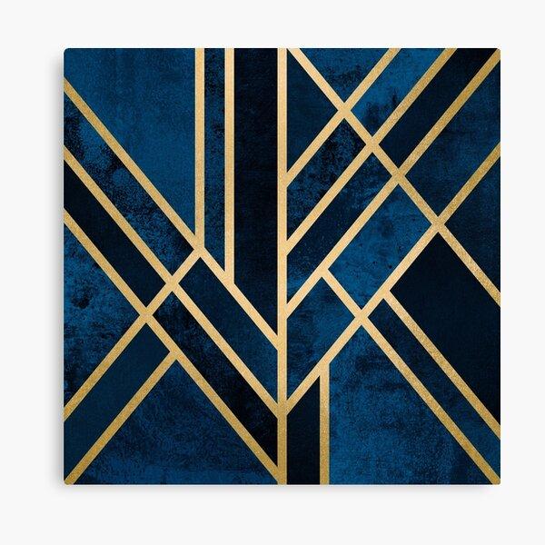 Art Deco Midnight Canvas Print