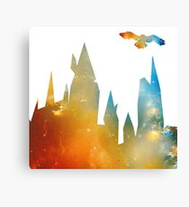 Castle with Owl Canvas Print