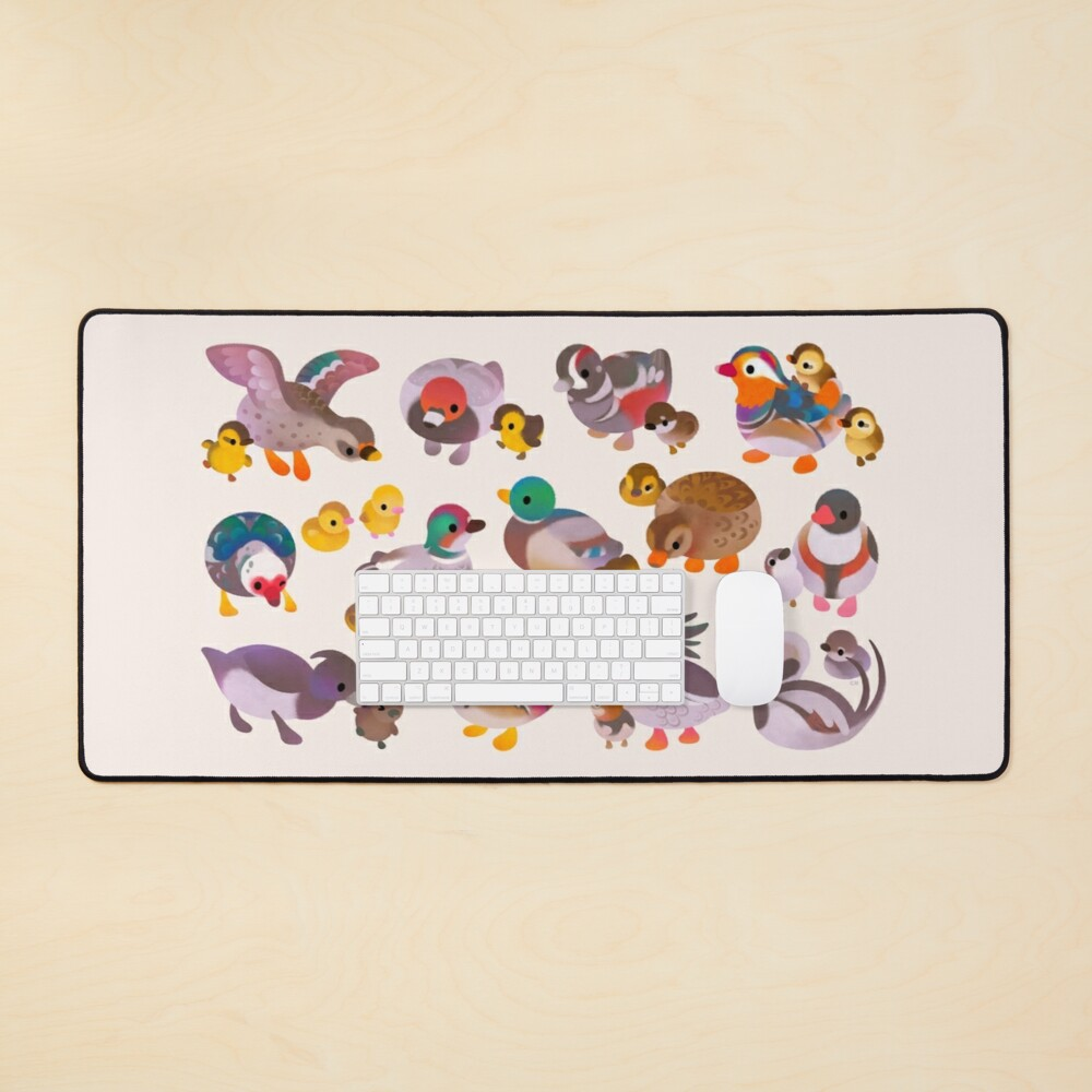 Duck and Duckling Mouse Pad