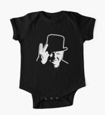 V sign, Victory, V, 1943, WWII, Winston, Churchill, British prime minister,  One Piece - Short Sleeve