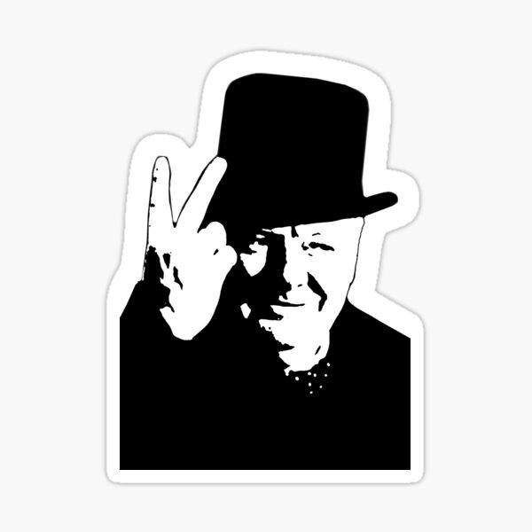 V sign. Victory, V, 1943, WWII, Winston, Churchill, British prime minister. Sticker