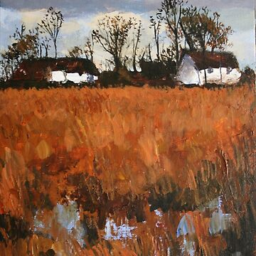 Cottages In Landscape by chalk42002
