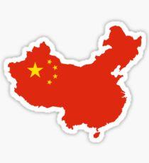 Pegatina Mapa de la bandera de China