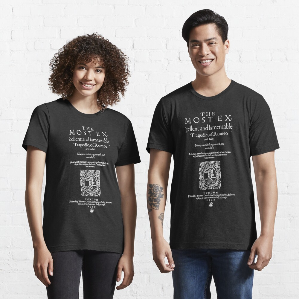 Shakespeare Romeo & Juliet Frontpiece - Simple White Version Essential T-Shirt