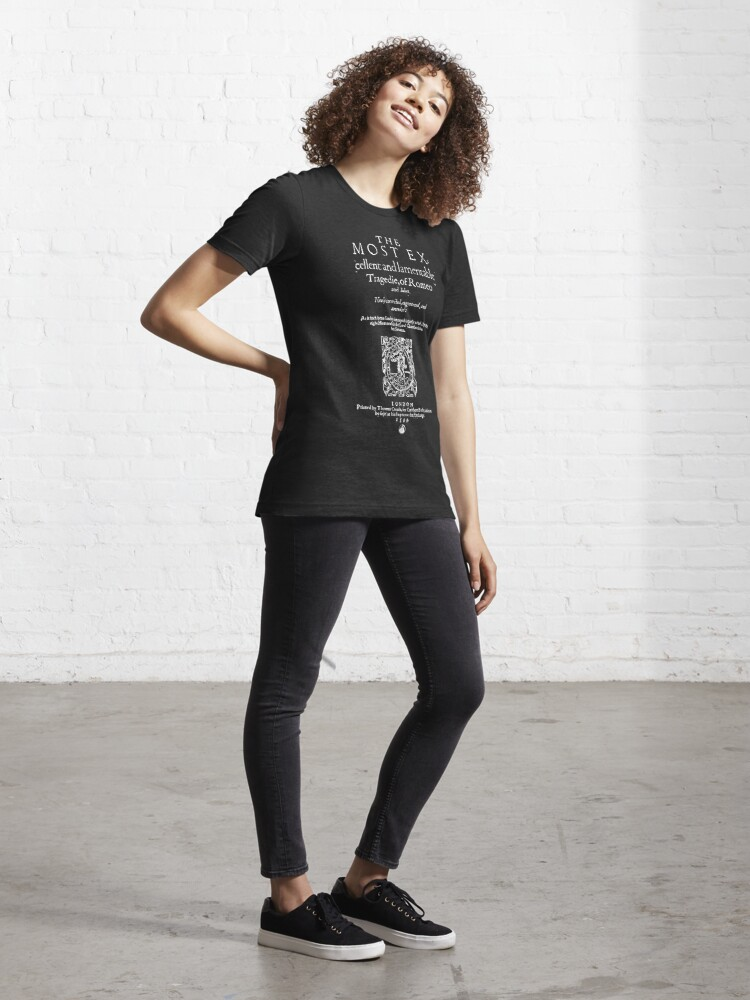 Alternate view of Shakespeare Romeo & Juliet Frontpiece - Simple White Version Essential T-Shirt