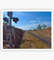 Bahnübergang im Outback Sticker