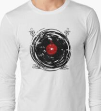 Enchanting Vinyl Records Vintage Twirls Long Sleeve T-Shirt