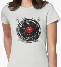 Enchanting Vinyl Records Vintage Twirls Women's Fitted T-Shirt