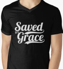 Saved By Grace - Christian Gifts Men's V-Neck T-Shirt