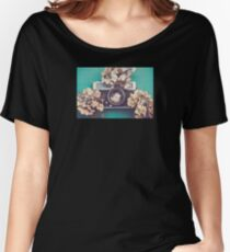 Camera & Hydrangea Women's Relaxed Fit T-Shirt