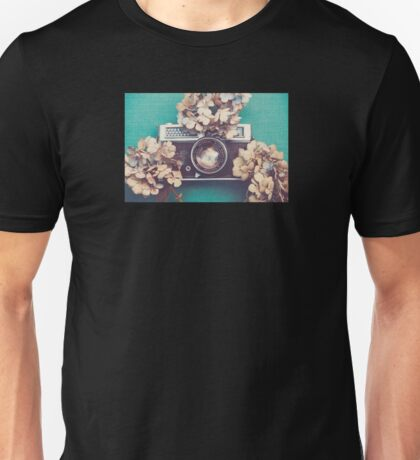 Camera & Hydrangea Unisex T-Shirt