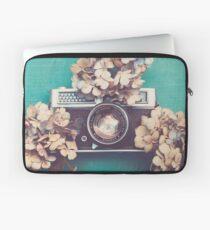 Camera & Hydrangea Laptop Sleeve
