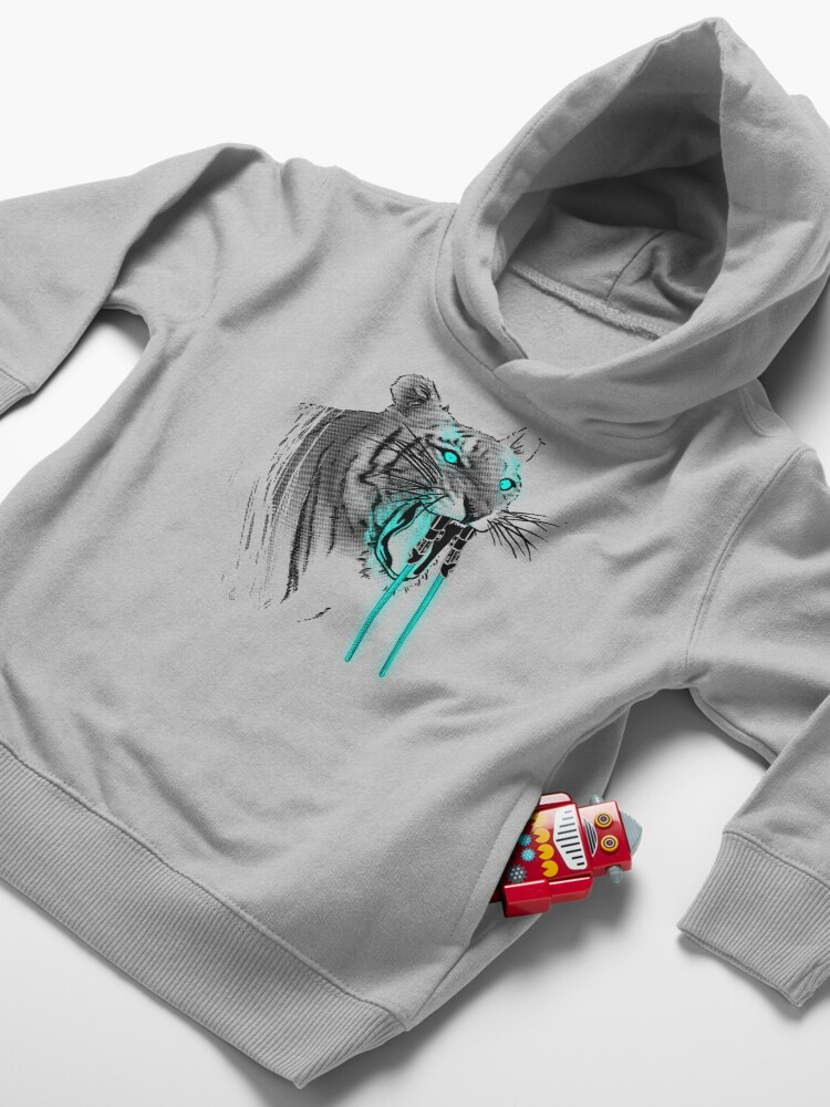 Alternate view of Saber-toothed Tiger Toddler Pullover Hoodie